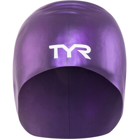 TYR Wrinkle-Free Long Hair Swimming Cap purple